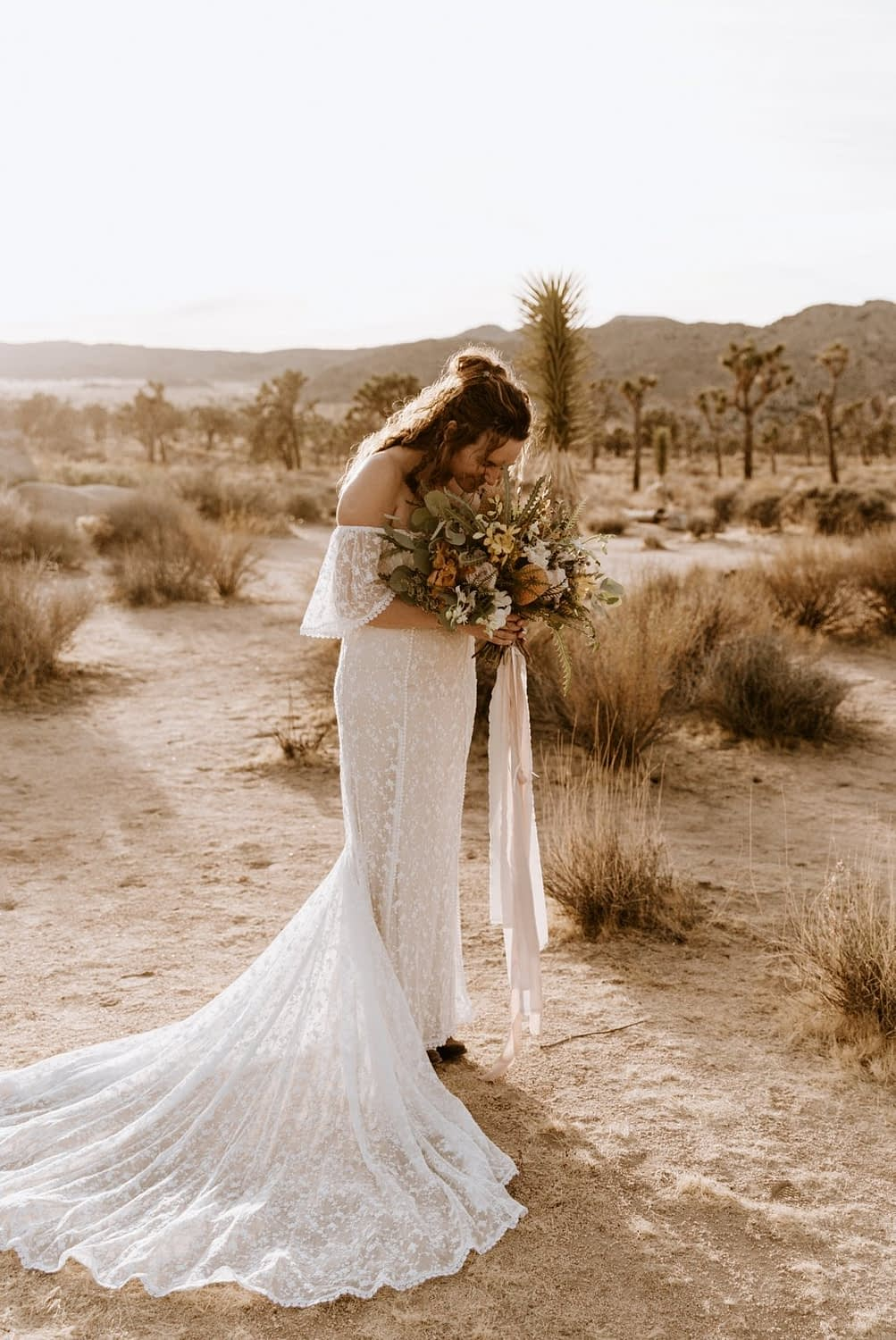 Intimate Joshua Tree elopement by Paige Nelson Photography