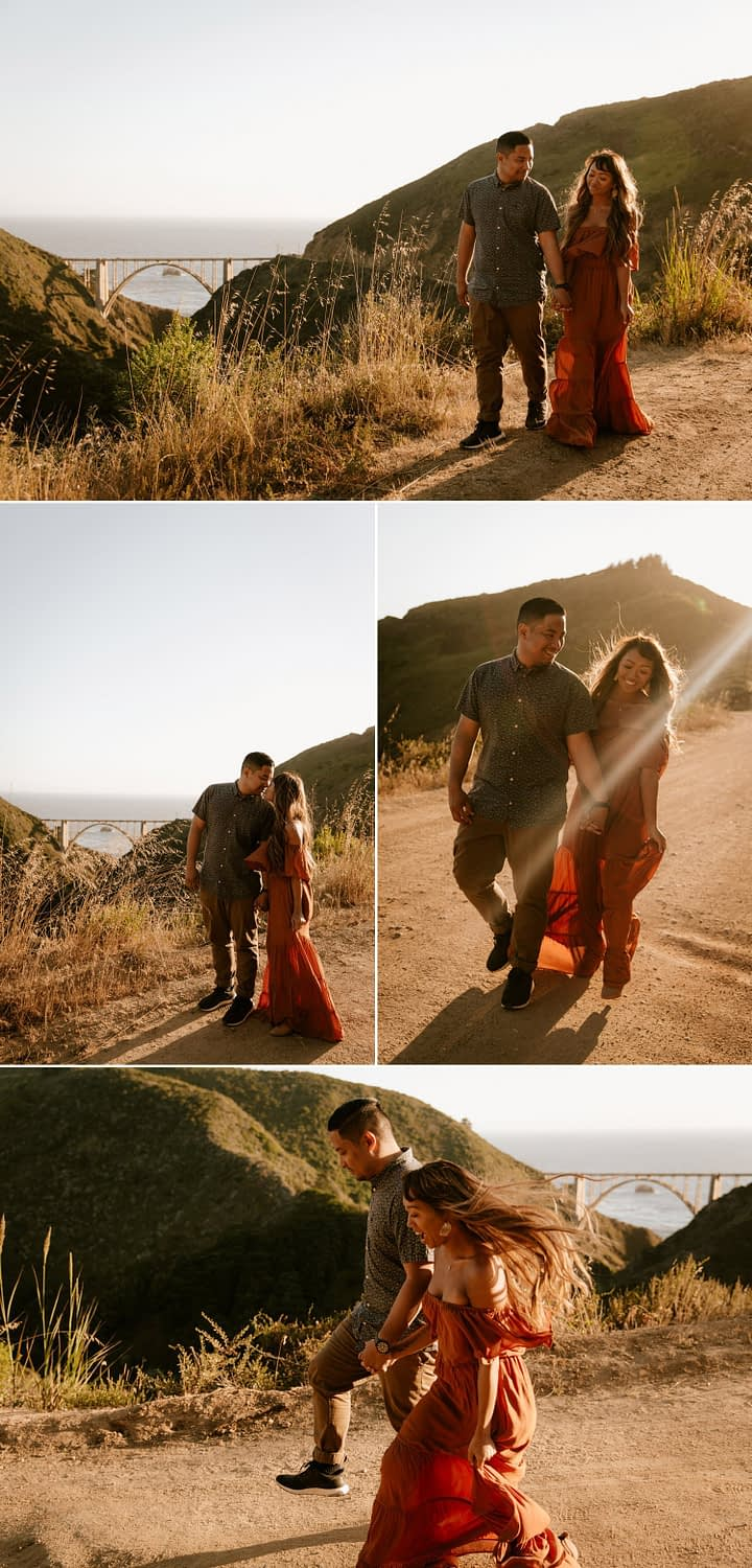 Bixby Bridge engagement session in Big Sur by Paige Nelson