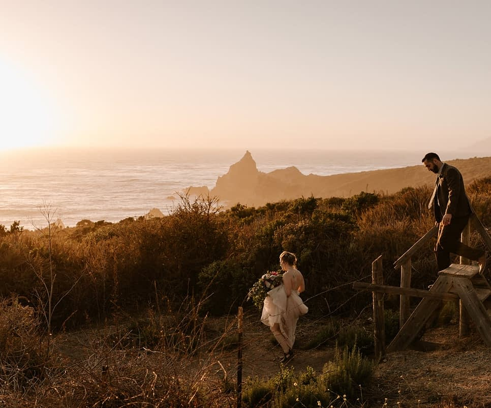 Big Sur redwood elopement Paige Nelson